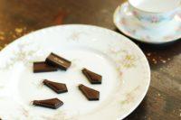 チョコレートカラーのファスナーツマミ