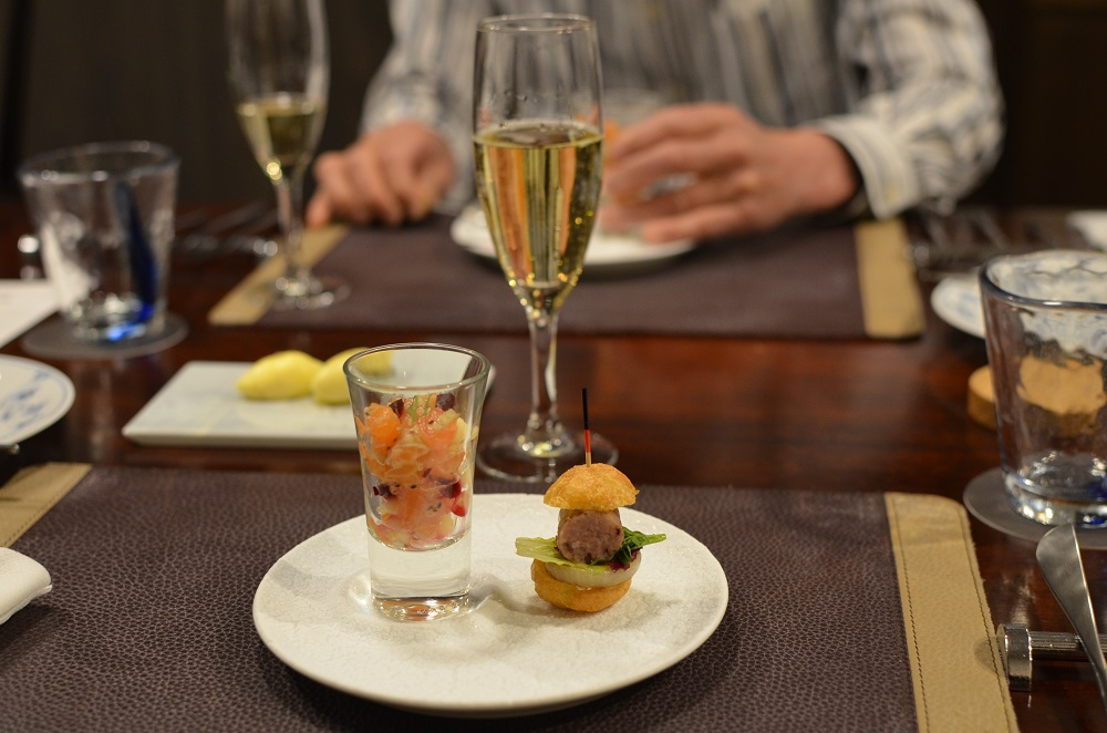 アミューズ&シャンパン